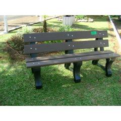 Banco de madeira plástica reciclada para jardim 3 lugares com escosto  3 unidades