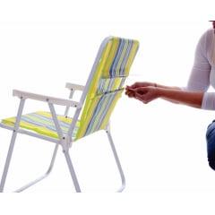 Refil Pano Para Cadeira de Praia Alta Com 15 Unidades