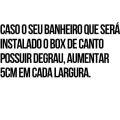 Box para banheiro de acrílico de canto