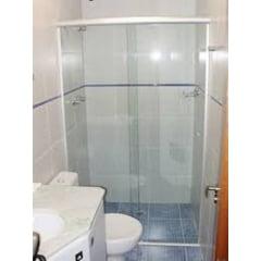 Box Banheiro Vidro Incolor Com kit Fosco