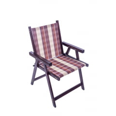 Cadeira de madeira dobravel com tecido kit com 4 unidades