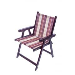 Cadeira de varanda  dobravel madeira com tecido