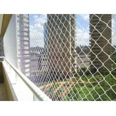 Rede de proteção para janelas e sacadas com kit de instalação